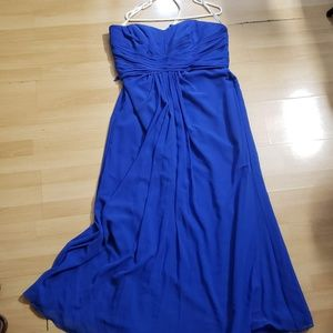 David's Bridal Long Strapless Chiffon Dress